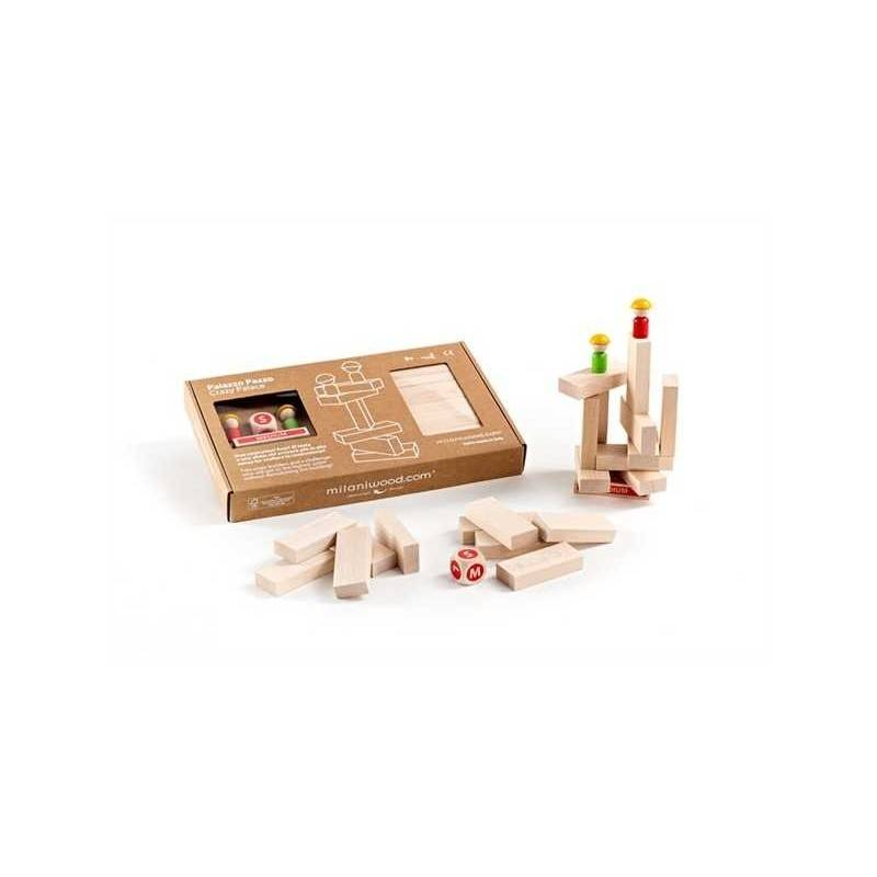 PALAZZO PAZZO CRAZY PALACE gioco in legno MILANIWOODS 5+ made in Italy