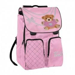 ZAINO TRUDY WITH LOVE ROSA cartella borsa bag scuola ROSA orsetto ESTENSIBILE