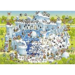 Puzzle HEYE 1000 pz POLAR HABITAT 50x70 cm Degano Funky Zoo