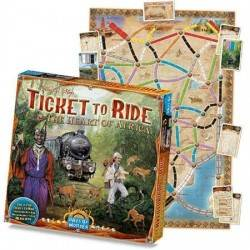 THE HEART OF AFRICA gioco da tavolo ESPANSIONEper TICKET TO RIDE Days of wonder