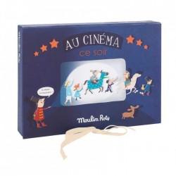 COFANETTO CINEMA scatola e torcia che proietta MOULIN ROTY Les Petites Merveilles 4+ proiettore Au cinema ce soir