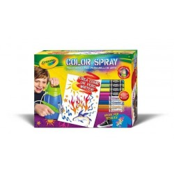 COLOR SPRAY KIT Crayola SET AEROGRAFO età 6+ funziona senza pile WRITER artistico