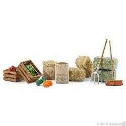 KIT FORAGGIAMENTO feed set CAVALLI Schleich 42105 miniature in resina FARM LIFE