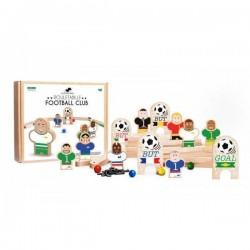 ROULETABILLE gioco in legno CALCIO età 4+ ROULE TA BILLE made in france BIGLIE